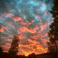 September sky from my hometown Rauma, Finland. Awesome!
