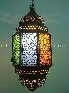 Octagonal Moroccan Art Antique Style Lighting Lamp