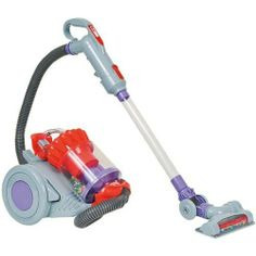 Dyson DC22 Toy Vacuum by Casdon Toys. $35.99. From the Manufacturer                Casdons' Toy Dyson Vacuum is a direct replica of the popular DC22 canister model. This realistic toy features a simulated cyclone action with colourful balls, so you can see it working. The wand also has real suction that is designed to pick up small pieces of paper waste or small poly beads. This wand links to a removable dustbin at the back, the child can easily take this out to b...