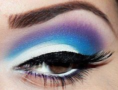 Blended shades of blue!