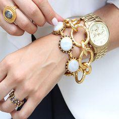 Julie Vos gold link bracelet