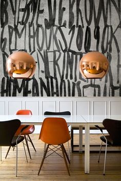 If stripes and wallpaper are far too mundane for you, check out these stunning examples of street graffiti as interior decor.