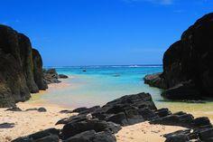 Black Rocks beach in Rarotonga