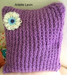 Fun+Things+to+Knit | Arlette's Cozy Corner: A loom knit pillow
