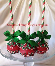 12 Christmas Oreo Truffle Pops (large) / Holiday Favor / Cake Pops by The Sweetest Thing Designs & Events