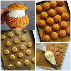 Fan of cooking: Ptysie craquelin z kremem śmietankowym Cap Cake, Happy Foods, Food And Drink, Cooking Recipes, Cookies, Breakfast, Pastries, Fan, Sweet Desserts