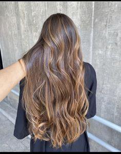 Brown Hair Balayage, Brown Blonde Hair, Hair Color Balayage, Hair Highlights, Ombre Hair, Caramel Highlights, Aesthetic Hair, Light Hair, Gorgeous Hair