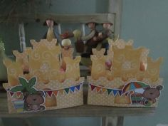 Sandcastle Candy Box with Cute Teddy Bears Set of 12 by zbrown5 on Etsy