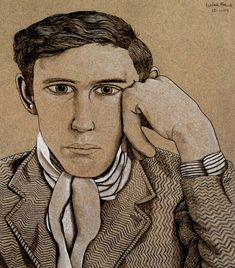 Portrait of a Young Man, 1944 Lucian Freud David Hockney, Sigmund Freud, Robert Rauschenberg, Edward Hopper, Bella Freud, Lucian Freud Portraits, Jean Fouquet, Antoine Bourdelle, Artists And Models