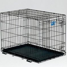 MidWest Life Stages Folding Single Door Dog Crate *** Special dog product just for you. : Crates, Houses and Pens for dogs Wire Dog Crates, Wood Crates, Pet Crates, Dog Crate Sizes, Dog Crate End Table, Airline Pet Carrier, Cat Carrier
