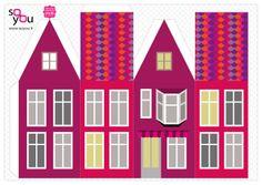 #Paper #Toy #House par Solange ABAZIOU pour Le Quai Angers - Paper House – Maison de papier – Modèle 8 - http://soyou.fr/