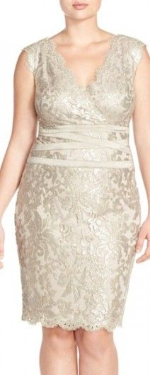 One of the Best Fitting Plus Size Mother of the Bride Dresses - See All Gold Dresses >>