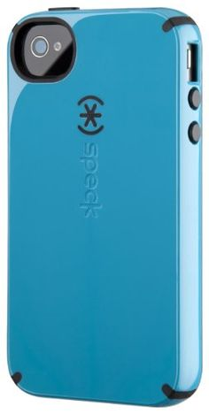 Speck Products CandyShell Glossy Case for iPhone 4/4S – 1 Pack – Carrying Case – Retail Packaging – Peacock Blue/Black        Get more collection on http://101-gadgets.com
