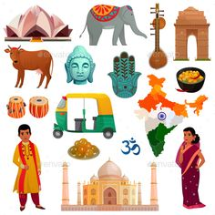 Buy India Travel Set by macrovector on GraphicRiver. Various symbols sights and national costumes of india travel set isolated on white background cartoon vector illustra. India Poster, India Map, India Travel, India Logo, Taj Mahal, Travel Symbols, Indian Musical Instruments, Independence Day India, Travel Set