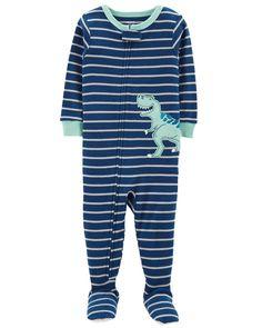 b8ff0d6cd729b 1-Piece Dinosaur Snug Fit Cotton PJs. Baby Boy ...