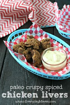 Crispy Spiced Chicken Livers from www.everydaymaven.com #paleo