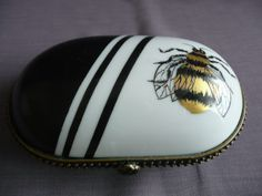 hinged porcelain box hand painted by variousstyles