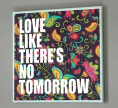 12x12 VALENTINES DAY GIFT Love Quote Canvas Love by PrintTypes, $30.00