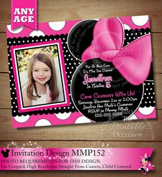 HUGE SELECTION Pink Polka Dot Minnie Mouse by ThePrintableOccasion, $20.00