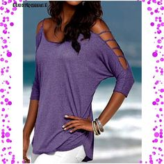 Trendy Purple Top🔴 Trendy Purple Top Stylish hollowed out 3/4 length sleeves Cotton Blend Material Size marked XXL But it fits a 14-16 Best! A great addition to your wardrobe A must for the Warmer Months ahead Only removed from packaging for photos and inspection. ❌NO TRADE❌ Boutique Tops