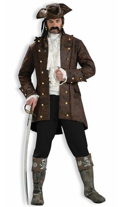 Adult Pirate Buccaneer Jacket Costume