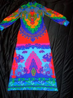 My favorite maxi of all - super-bold, neon, pop-art print - vintage 70s TORI RICHARD. I adore this one and love wearing it!