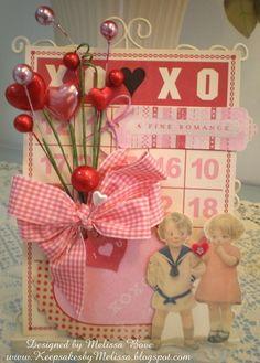 Vintage Valentine Bingo Cardby MelissaB