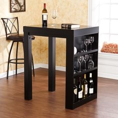 Buy Copenhagen Mini Wine Rack cum Table Online: Shop from wide range of Bar Furniture Online in India at best prices. Modern Dining Table, Dining Table In Kitchen, Sofa End Tables, A Table, Pub Tables, Dinner Table, Kitchen Dinette Sets, Sideboard Table, Dark Furniture