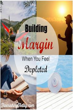 Great wisdom and practical ideas for building margin into our lives.