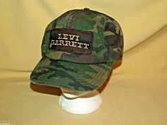 Levi Garrett Hat Vintage Camo Patch Chewing Tobacco USA Adj Snapback As Is Adult