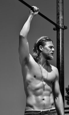 I can't even with this.   Charlie Hunnam/Jax Teller/SOA SWOON.
