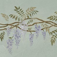 Hey, I found this really awesome Etsy listing at https://www.etsy.com/listing/63841928/wisteria-border-stencil-reusable
