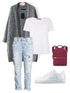 Spring Afternoon - Relax by beefashionable on Polyvore featuring polyvore, fashion, style, MaxMara, H&M, NIKE, Sophie Hulme, women's clothing, women's fashion, women, female, woman, misses and juniors
