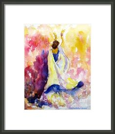 A Heavenly Dancer Framed Print By Asha Sudhaker Shenoy