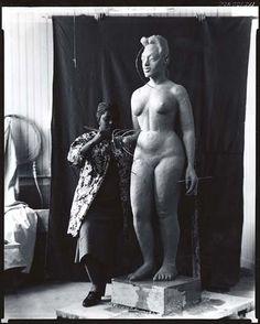 Selma Burke (1900-1995) in her Studio (Smithsonian)