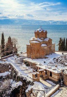 Ohrid Republic Of Macedonia, Historic Architecture, Southern Europe, Bosnia And Herzegovina, Winter Fun, Travel List, Kirchen, Byzantine, Montenegro