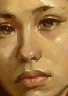 """""""Ochre Harvest"""" (close-up), John Larriva art"""