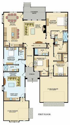 New House Plans, Dream House Plans, Modern House Plans, Small House Plans, Duplex Floor Plans, Home Design Floor Plans, House Floor Plans, Next Gen Homes, One Level Homes