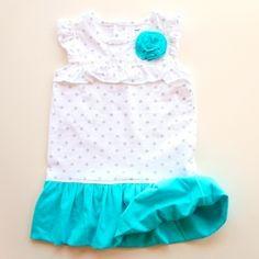 Turn a onesie into a cute bubble dress. makeit-loveit.com