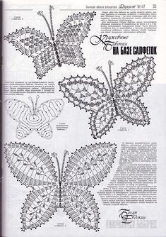The best butterfly crochet pattern for your design Free Crochet Butterfly Patterns ⋆ Crochet Kingdom 77 With over 50 free crochet butterfly patterns to make you will never be bored again! Get your hooks out and let's crochet some butterflies! Filet Crochet, Crochet Diagram, Freeform Crochet, Crochet Chart, Thread Crochet, Crochet Motif, Crochet Doilies, Crochet Flowers, Crochet Lace