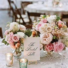 Romantic Vintage Wedding Table Centerpiece < Wedding Table Centerpieces - Southern Living