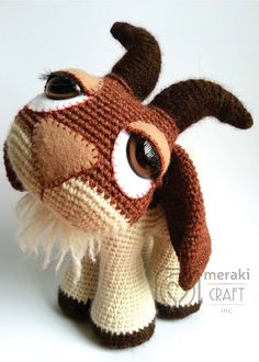 Hopscotch the Goat - Amigurumi. So cute! http://www.etsy.com/au/listing/179812884/hopscotch-the-goat-amigurumi
