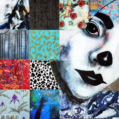 """""""Palhaço"""" collage and painting"""