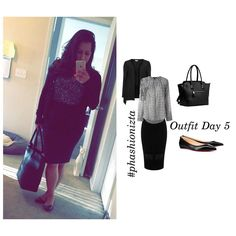 Day 5 of the @phashionizta challenge ! #polyvore  #fashion #fashiontofityou #fashionblogger #womenstyle #womenswear #chic #feminine #workflow #flats #blouse #skirt #longhair #instastyle #instafashion #workflow #businesscasual #lookgoodfeelgood #black #white #neutrals  #springy #handbag #mondays