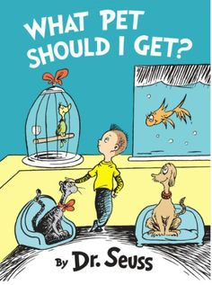 Dawg, it's a new Dr. Seuss book out. I could not be more thrilled.