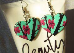 Pop Can Earrings Arizona Cherry Blossom Cute by MissMaggiesPlace, $10.00
