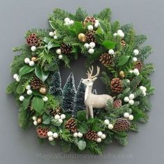 Winter Wild Fresh Christmas Wreath by Magical Christmas Wreaths, diyde . Winter Wild Fresh Christmas Wreath by Magical Christmas Wreaths, diydekorationweihnachten by fr christmas diyde fresh magical Wild winter winteranimals winterboots wintercoat Woodland Christmas, Magical Christmas, Rustic Christmas, Beautiful Christmas, Christmas Island, Christmas Door Wreaths, Holiday Wreaths, Christmas Decorations, Diy Wreath