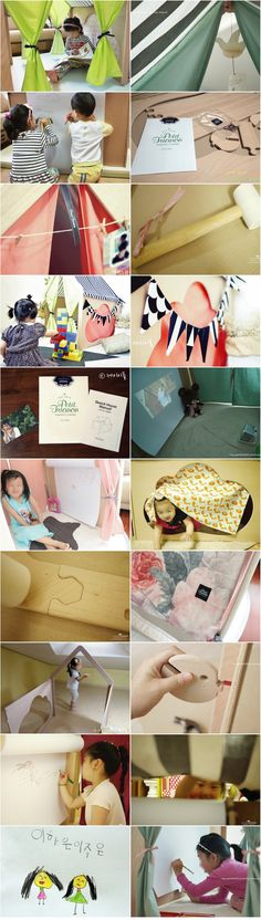 [프티 트리아농] [아기 인디언텐트] 미술용 책상 변신_원목 어린이 플레이하우스