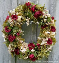 Floral Wreath, Victorian Wreath, Designer Wreath, Garden Wreath, Autumn, Fall Wreath, Thanksgiving, Elegant Holiday Wreath