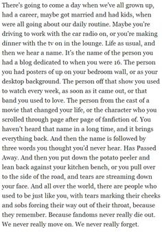 This is something that I will always think about because one day it will happen
